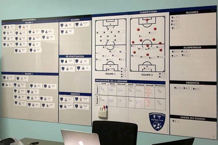 tableau affichage équipe foot